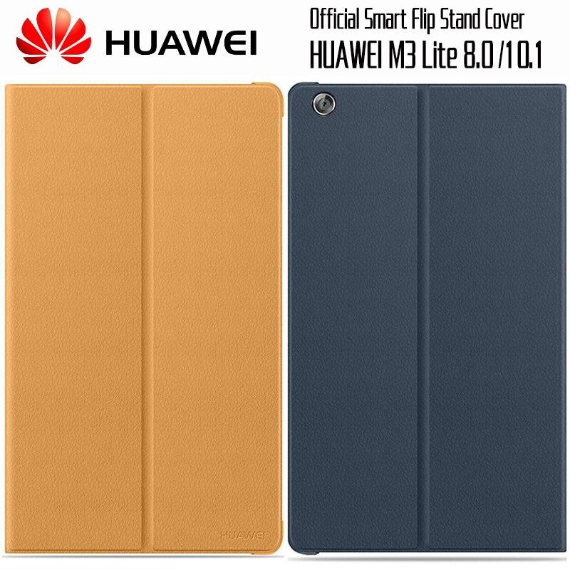 HUAWEI M3 Lite Cas D'origine Officiel Smart View HUAWEI Mediapad M3 Lite Couverture Béquille Flip Housse En Cuir Tablet 8.0 10.1
