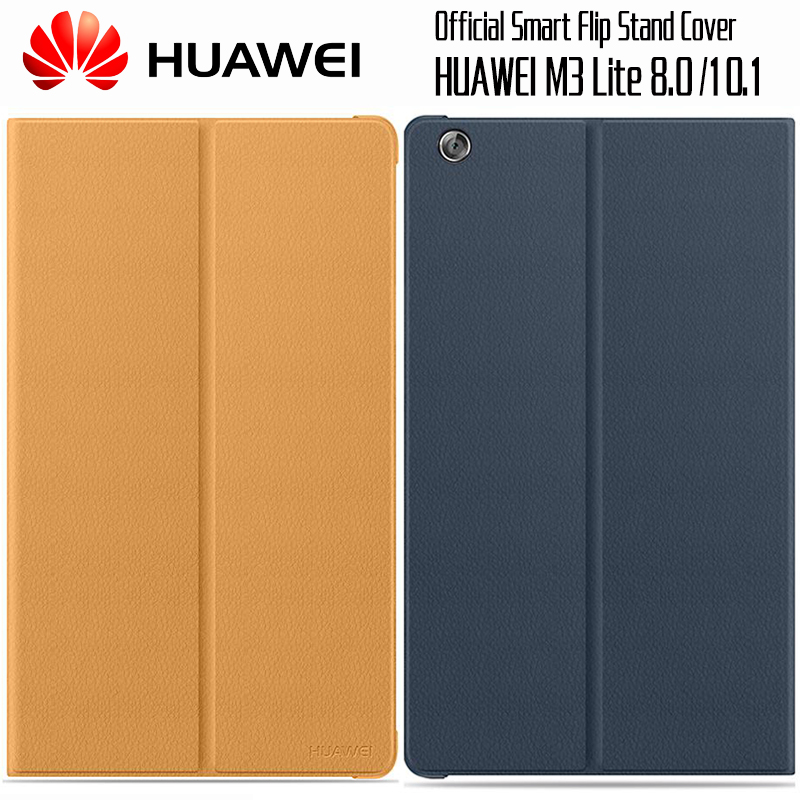 HUAWEI M3 Lite Case Official Original Smart View HUAWEI Mediapad M3 Lite Cover Kickstand Flip Leather Case Tablet Cover 8.0 10.1 detachable official removable original metal keyboard station stand case cover