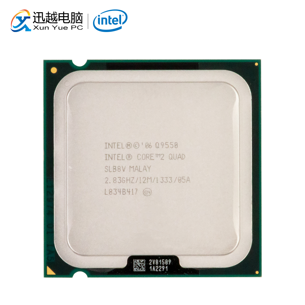 Intel Core 2 Quad Q9550 Desktop Processor Quad-Core 2.83GHz 12MB Cache FSB 1333 LGA 775 9550 Used CPU image