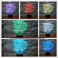 Top Quality Fashion 3D Horse Head Visual Lamp Atmosphere Mood Multi-colored Sleeping Night Light Home Decor Lamp free shipping