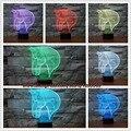 Top Quality Moda 3D Cabeça de Cavalo Lâmpada Atmosfera Humor Visual Multi-colorido Luz Da Noite de Sono Home Decor Lâmpada livre grátis