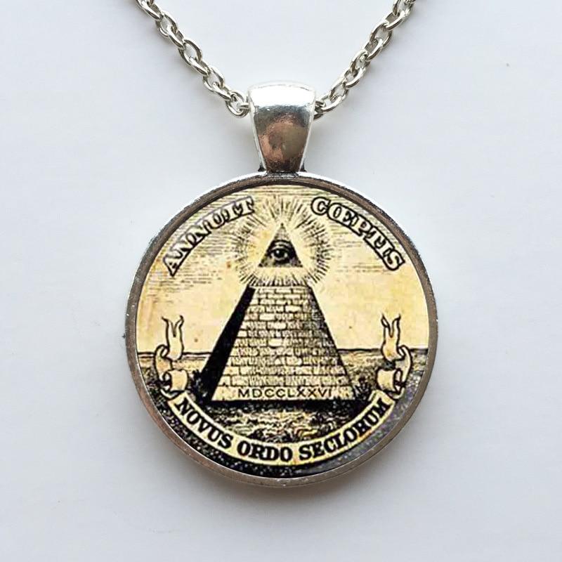 Großhandel Mann Mode Symbol freimaurer Illuminati antiken Druck - Modeschmuck - Foto 5