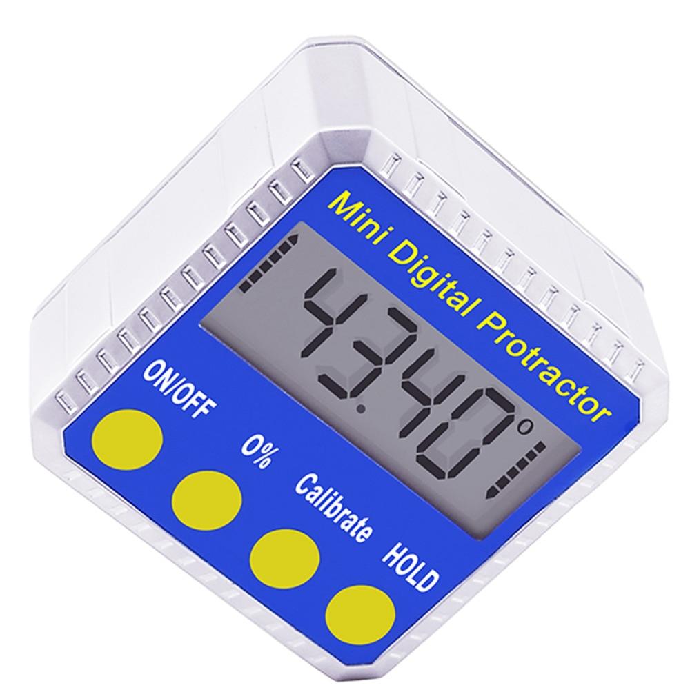 4 x 90° Digital Protractor Gauge Level Angle Finder Inclinometer Magnet Base KU