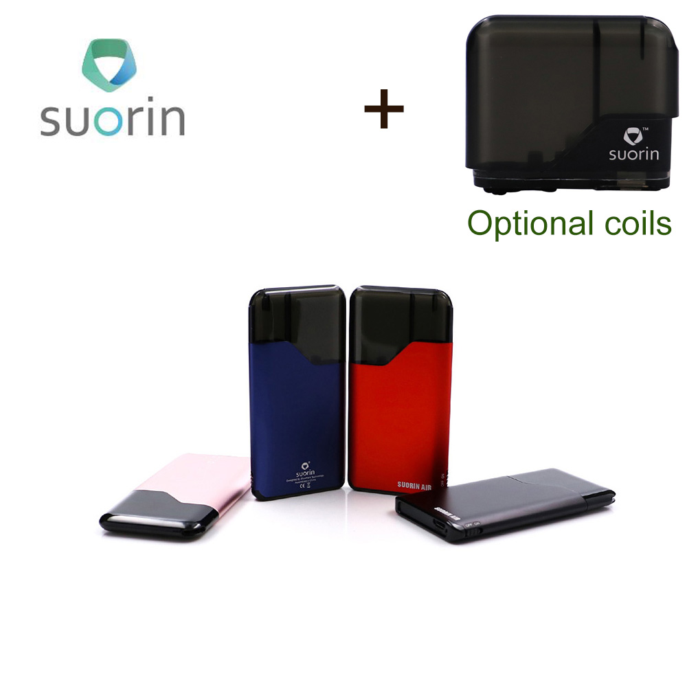 Original Suorin Air Starter Kit 400 mah Gebaut in Batterie 2 ml patrone Tragbare vape neue version Suorin Elektronische Zigarette kit