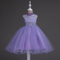 3 14Y Kids Choker Tutu Dresses For Girls Flower Girls Dress For Wedding Party Princess Dress