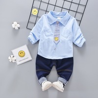 Baby Boy Clothes 2018 Toddler Gentleman Style Newborn Baby Boy Clothes Set Long Sleeve Shirt Pants