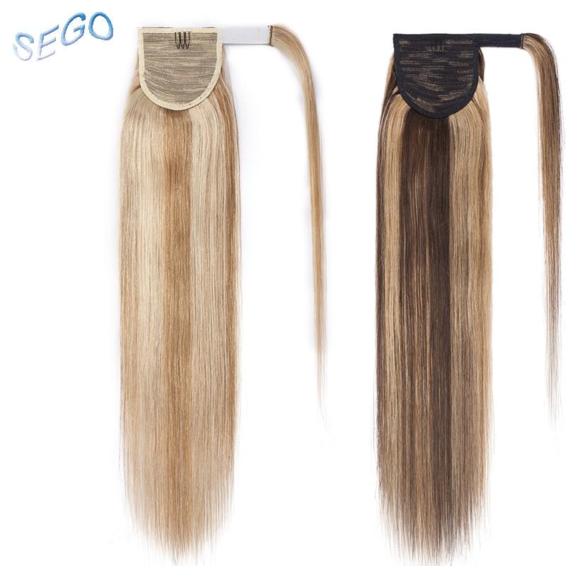 Haarverlängerung Und Perücken Haarteile Logisch Sego 16 18 20 gerade Reine Und Klavier Farbe Pferdeschwanz Magie Wrap Um Clip In Menschliches Haar Extensions Nicht-remy Frisuren 100g
