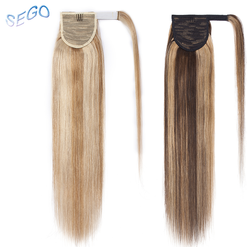 Just Sego 161820 Straight Pure And Piano Color Ponytail Magic Wrap Around Clip In Human Hair Extensions Non-remy Hairstyles 100g Ponytails