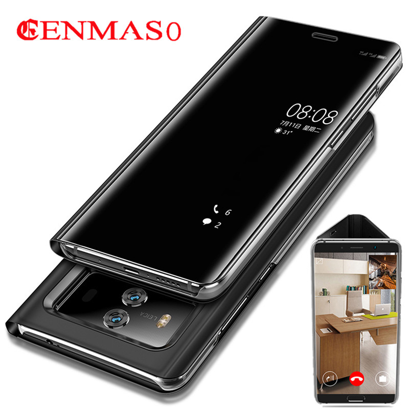 For Huawei P10 Plus Smart Flip Case for Huawei Mate 9 10 Pro Mate9 Mate10 Pro Case Mirror View Cover P20 Pro Original Case Capa