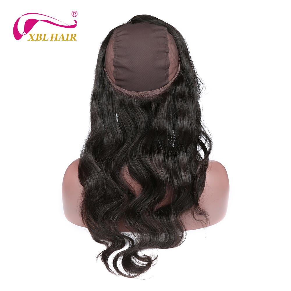 XBL font b Hair b font 360 Lace Frontal with Wig Cap Free Part Body Wave