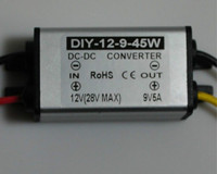 DC 12 V 24 V (11,5 V-28 V) до 9 V 5A 45 W Водонепроницаемый конвертер постоянного тока регулятор Бак Модуль