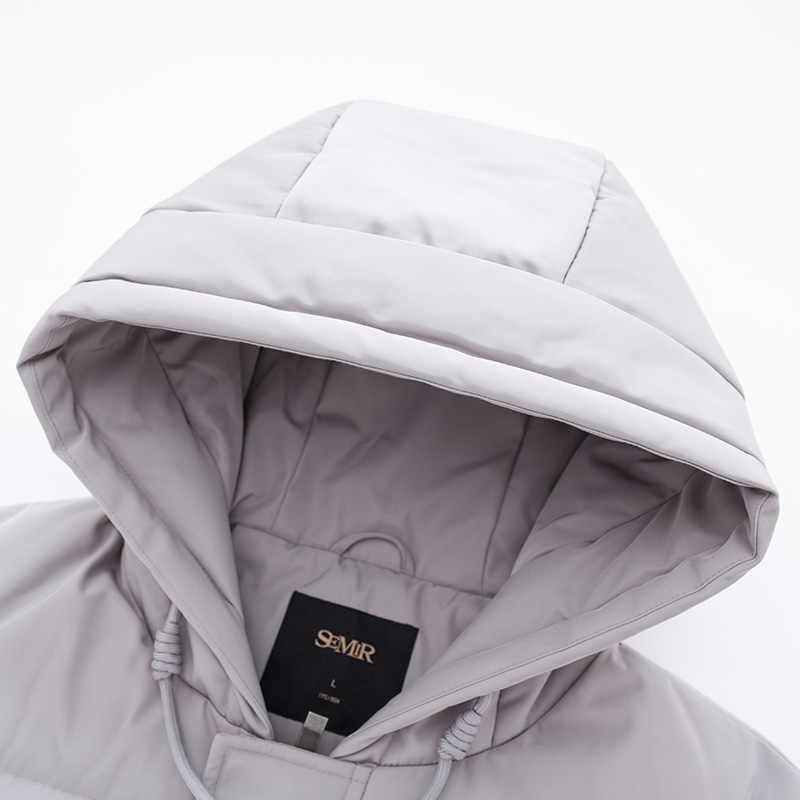 SEMIR جديد شتاء 2019 الرجال أسفل سترة 2XL اضافية طويلة بطة أسفل معطف رشاقته الدافئة يندبروف الذكور أبلى
