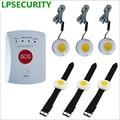LPSECURITY SOS сигнализация беспроводной GSM сигнализация Домашняя безопасность пожилых людей помощник от 1 до 8 с аварийной кнопки тревоги