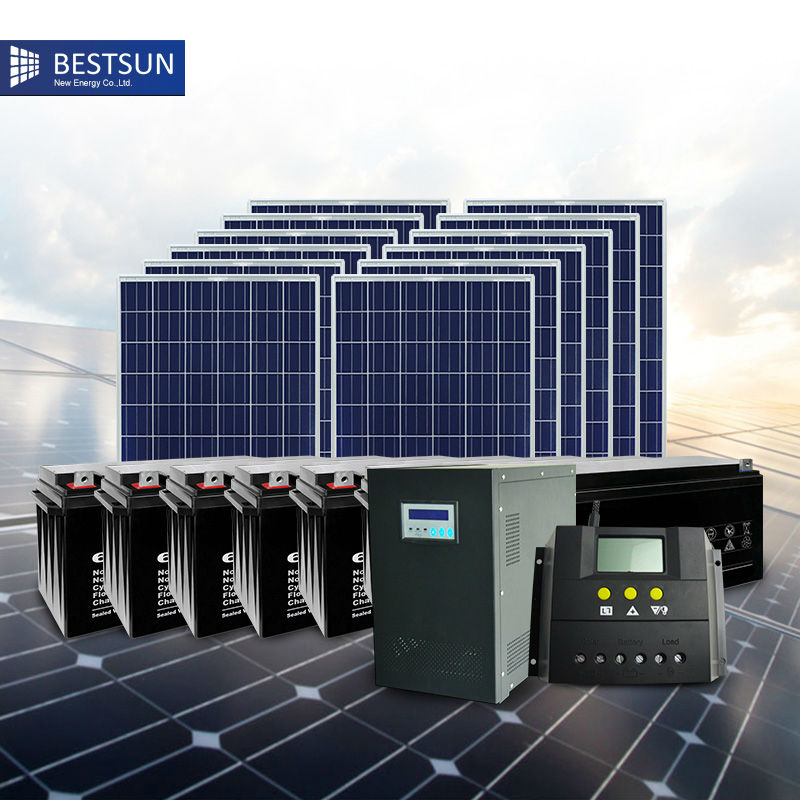 5000W solar kits poly 150W solar power supply for home ...
