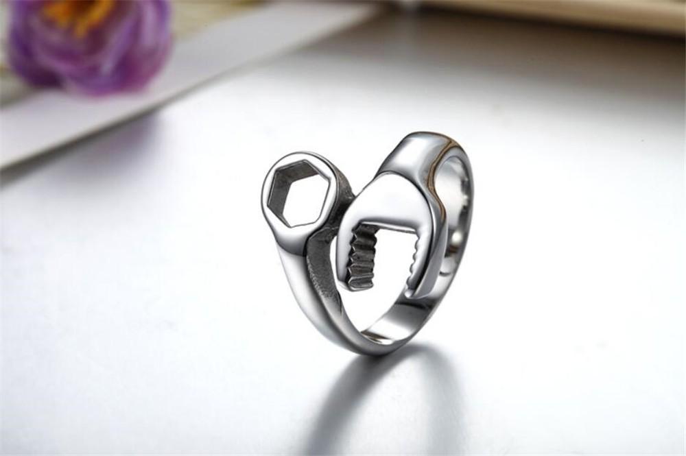 HTB1w1gANXXXXXb8XXXXq6xXFXXXq - Men's Wrench Automotive Style Titanium Ring