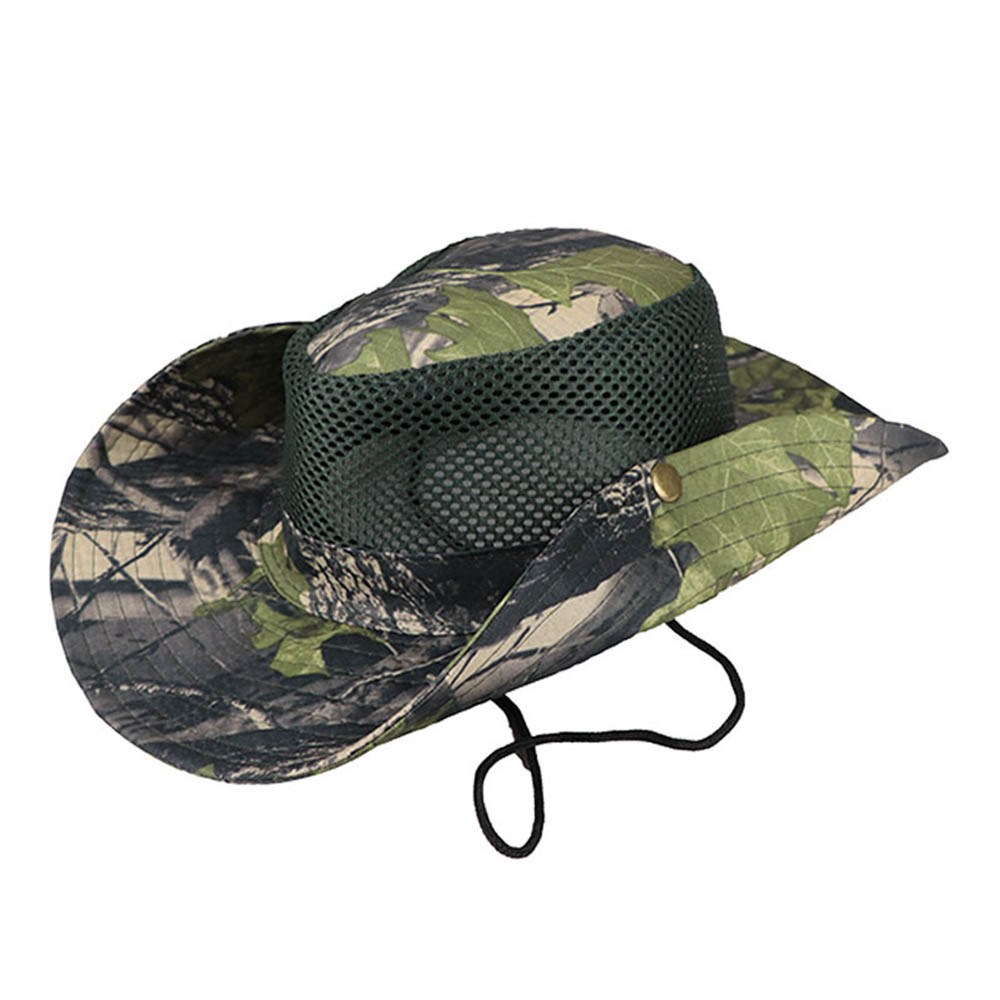 Men's Hat Hunting Sun Hat Bucket Flap Cap Breathable Nepalese Outdoor Fishing Wide Brim Hat