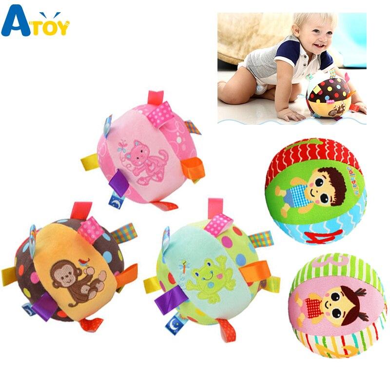 Brinquedos do bebê brinquedos de pelúcia de bola de animais de pelúcia com som chocalhos do bebê infantil bebês bola de construção do corpo brinquedos educativos para crianças