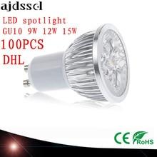 100X High Power spot Lampada LED spotlights GU5.3 MR16 E27 9W 12W 15W GU10 led bulbs Dimmable Led Lamp light AC&DC12V AC110V220V