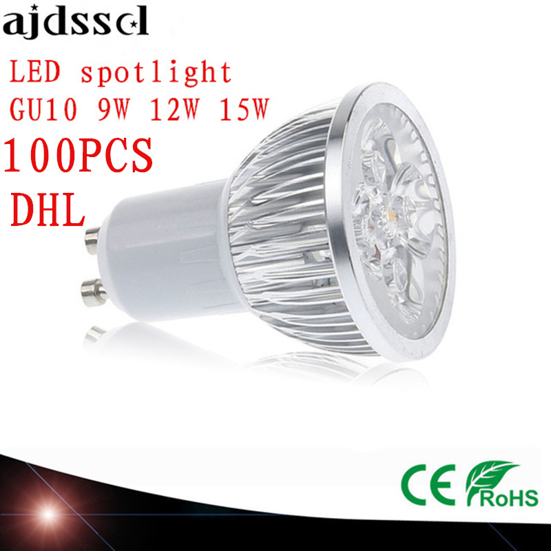 100X High Power spot Lampada LED spotlights GU5.3 MR16 E27 9W 12W 15W GU10 led bulbs Dimmable Led Lamp light AC&DC12V AC110V220V