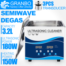 Ultrasonic Dental Cleaner 3.2L Clinic Laboratory Washer 40Khz 180W 120W Piezoelectric Transducer Oil Stains Sterilizer цена и фото