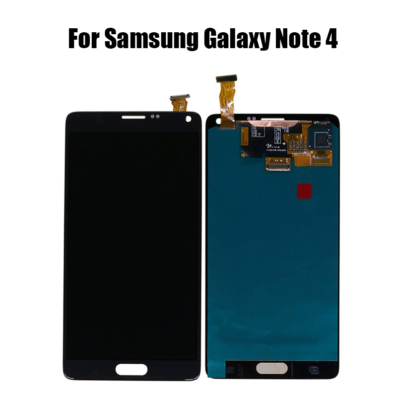AMOLED <font><b>LCD</b></font> Für Samsung <font><b>Galaxy</b></font> Note 4 <font><b>Note4</b></font> <font><b>LCD</b></font> Display Touchscreen Digitizer Montage + Rahmen Für note 4 N910 n910A N910F N910H image