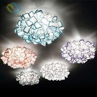 Nordic дизайнер Цветы LED Потолочные светильники блеск красочные акриловые Спальня светодиодный потолочный светильник светодиодный потолочны