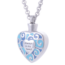 Mosaic Heart Urn Necklace