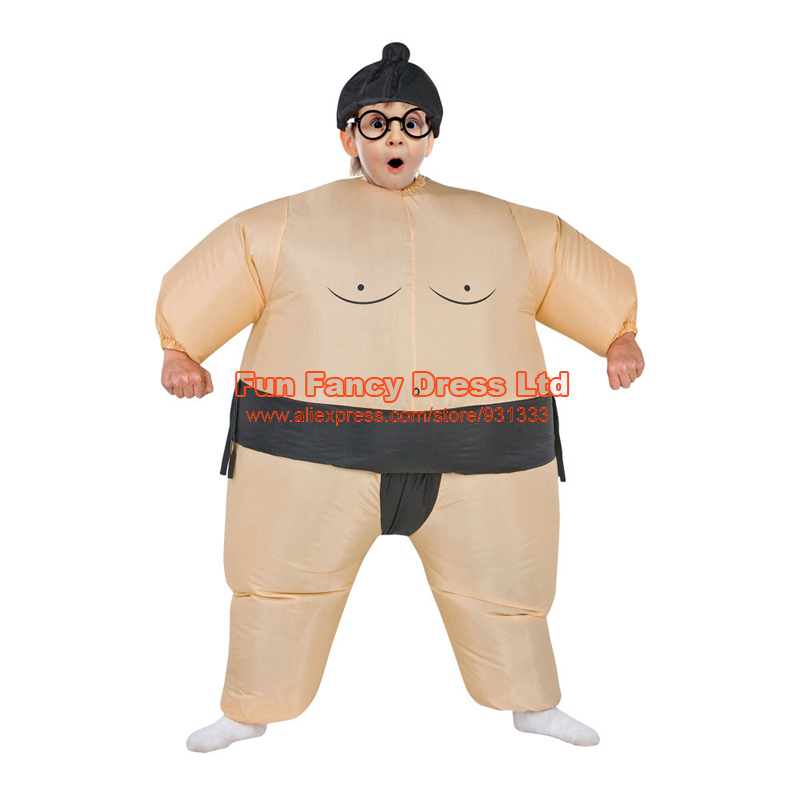 Halloween Purim Costume Inflatable Sumo Suit Sumo Wrestling Suits Kids Unisex Boys Girls Wrestler Inflatable Fancy Dress Outfit