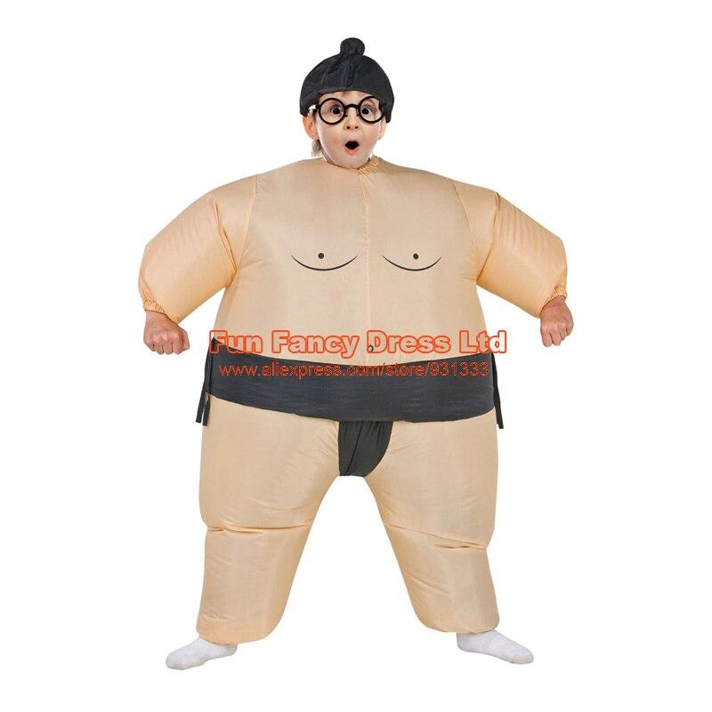 JYZCOS Halloween Purim Costume Inflatable Sumo Suit Sumo Wrestling Suit Kids Unisex Boys Girls Wrestler Fancy Dress Outfit