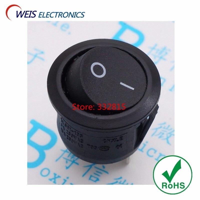 6A250V 3-PIN 2 posição I O botão