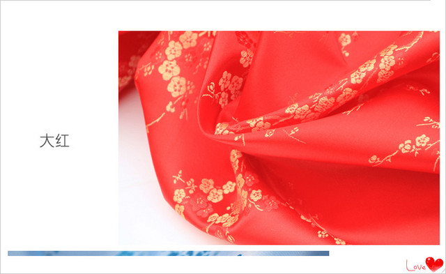 A7 Width 90cm Sewing Accessories Good Quality Brocade Silk Cloth
