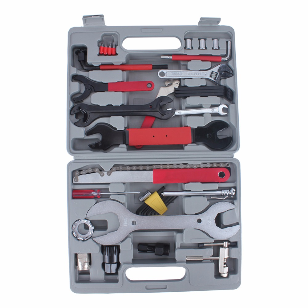 44Pcs/setMultifunction Bike Repair Tool Set Wrench Sockets Tools Kit Bicycle Repair Hand Tools Set With Box