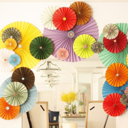 Creative Wedding Background Layout Birthday Party Wedding Room Decoration  Christmas Decoration Europe Strap Origami Flower Fan On Aliexpress.com |  Alibaba ...
