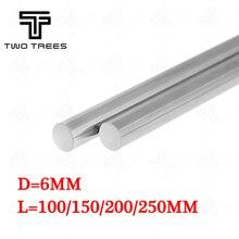 Мм 6 мм 6×100 6×150 6×200 6×250 мм линейный вал рельсовая оптическая ось хромированная нержавеющая сталь гладкие Линейные стержни оси 3d принтер ЧПУ часть