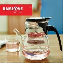 Freies verschiffen kamjove hochwertige neue ankunft brüheinrichtung elegant tee tasse blume teekanne hitzebeständigem glas tee set teekanne