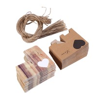 Kraft Paperboard Wedding Candy Box With Burlap Chic Vintage Hearts In Love Rustic Wedding Supplies Wedding
