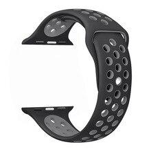 THORMAX esporte banda de Silicone para o relógio maçã nike 42mm 38mm pulseira relógio de pulso banda pulseira Para iwatch 3/2/1 Acessórios