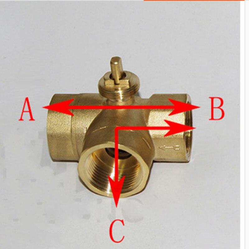 Трехходовой моторизованный шаровой клапан электрический шаровой клапан моторизованный клапан трехлинейный двухсторонний контроль AC220V ...