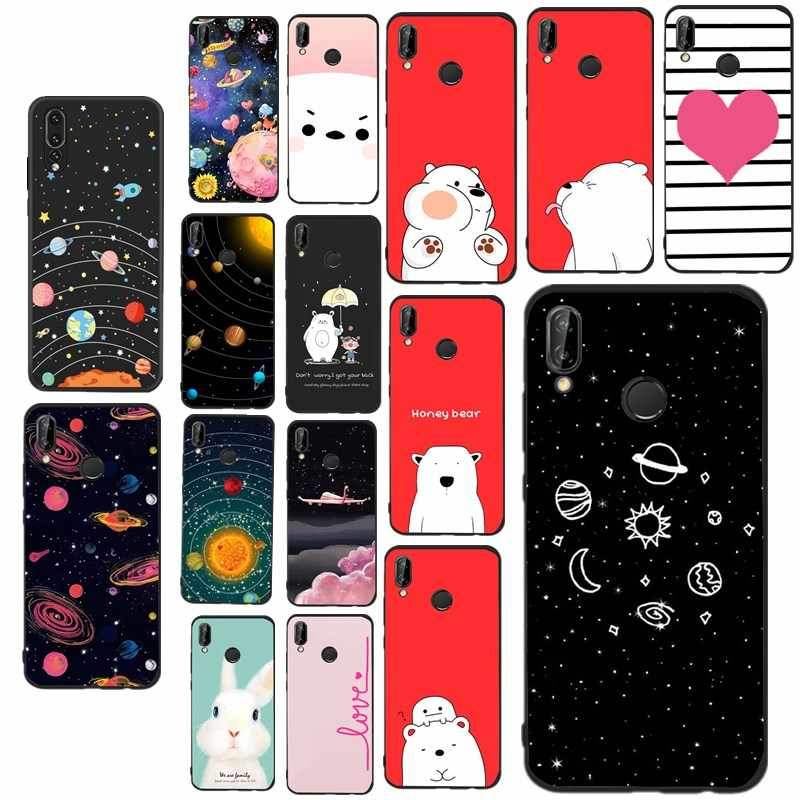 Back Cover For Huawei P8 lite 2017 Case Soft Silicone Jet Black for Huawei Mate 10 P9 P10 P20 Lite P Smart Carcasa Para