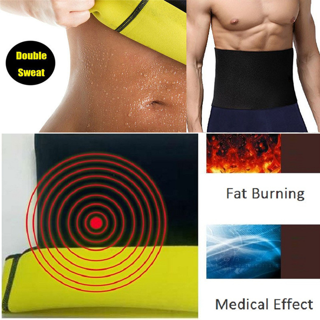 SEXYWG Fitness Belt for Men Back Support Hot Neoprene Sauna Sweat Belt Weight Loss Body Shaper Abdominal Strap Waist Trainer Top 3