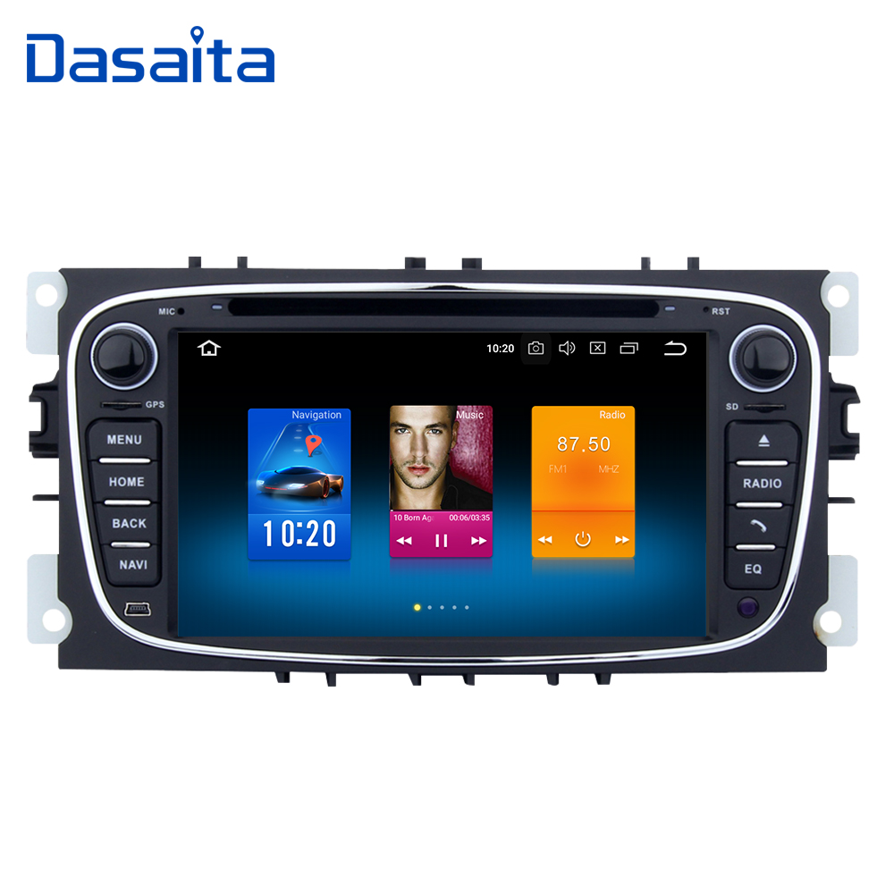 2 din Car Radio GPS Android 8 0 for Ford Focus 2 S max Mondeo C
