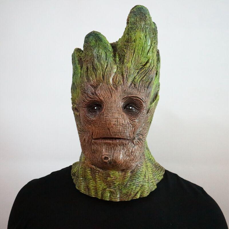 Marvel Character Guardians of the Galaxy Groot Cosplay Mask Halloween Cosmetic Tree Man Latex Mask Galaxy