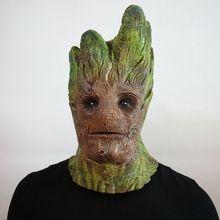 Marvel персонаж стражи Галактики Грут Косплей маска Хэллоуин косметическое дерево человек латексная маска Galaxy Guard реквизит «ужасы»