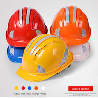 ABS Safety Helmets with Reflective Stickers Helmet Labor Caps Safety Helmet Work Cap Construction Site Free Printing