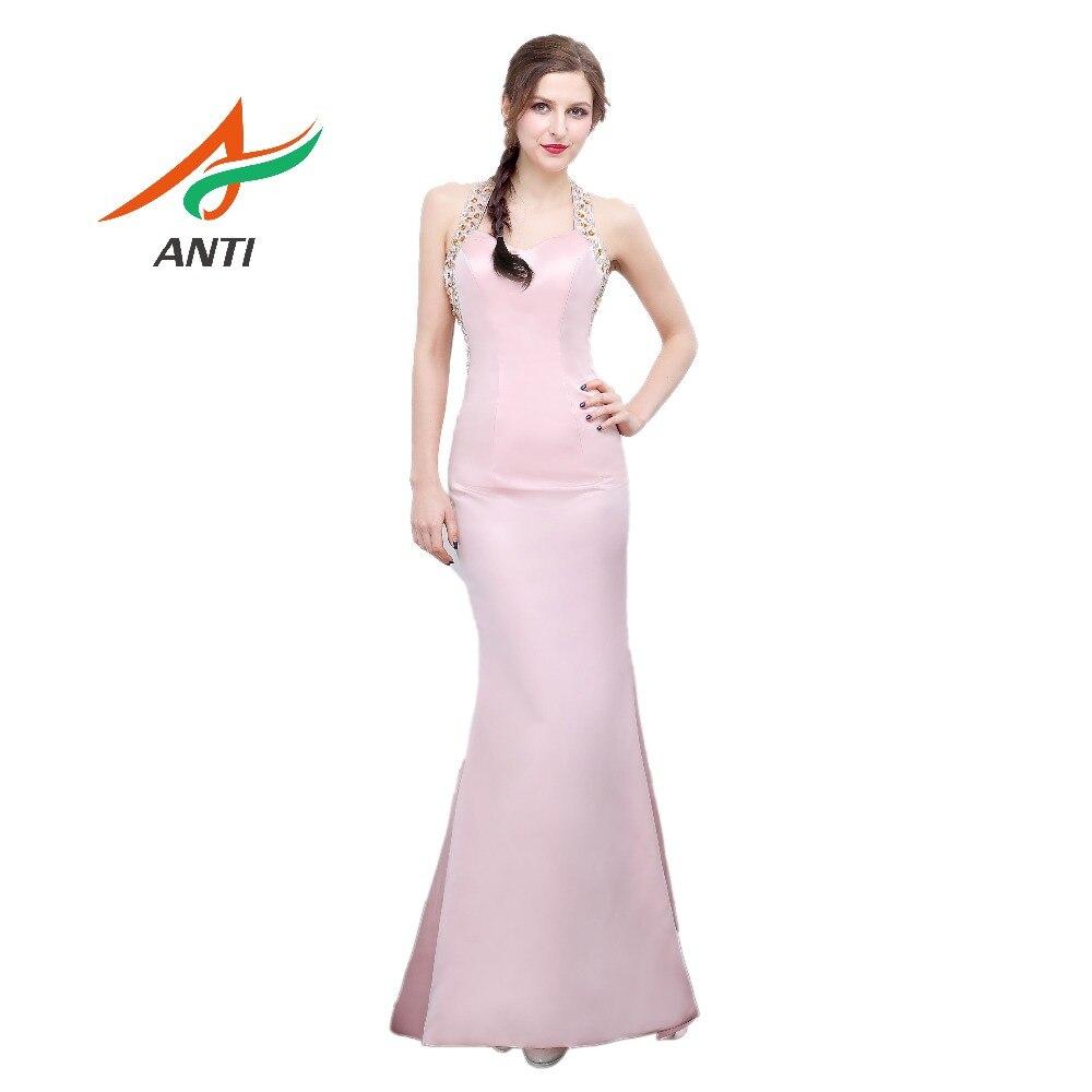 ANTI Sexy Pink Bordare la sirena Abito da sera per le donne eleganti Abito per la festa di nozze Robe De Soiree Off the Shoulder HQY659