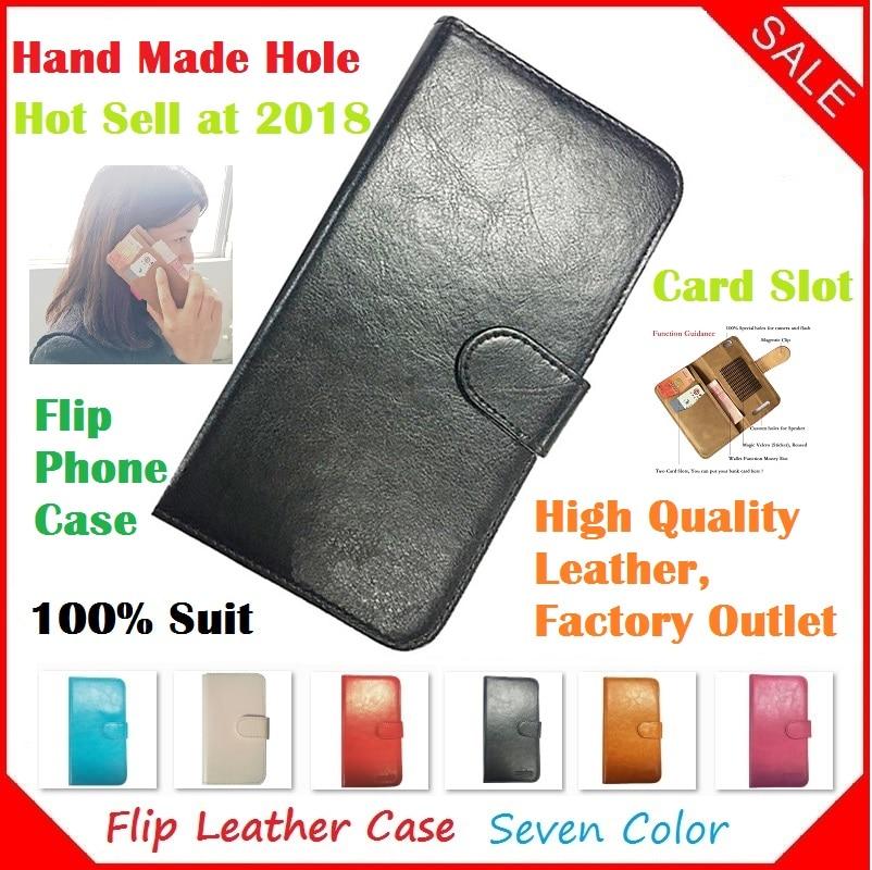 Fly IQ4406 ERA Nano 6 Case, 2018 New Luxury Flip Crazy Horse Leather Phone Cases Capa for Fly IQ4406 ERA Nano 6 Case