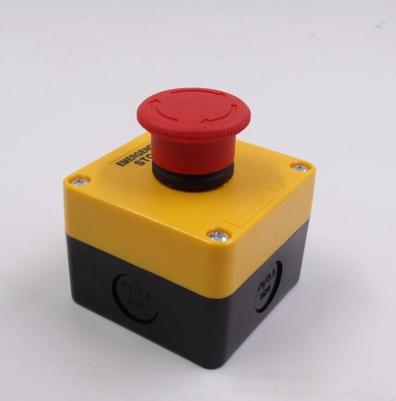 5PCS/LOT HOT SALE Emergency Stop Push Button Switch 660V Red Sign 10 A Self-locking with NC silver alloy contact