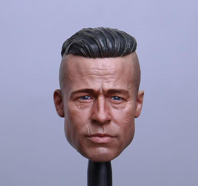 1/6 Scale Brad Pitt Head Sculpt Movie Fury Suitable 12
