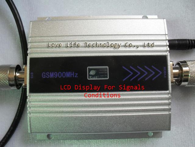 Nueva ganancia modelo 55 dbi pantalla LCD función max. 500 square metros obra GSM 900 Mhz teléfono móvil amplificador de señal y repetidor