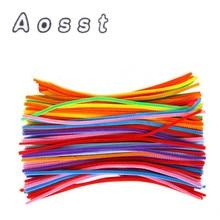 AOSST Haj gyökér csavart rúd színes gyapjú felső óvoda gyermekek oktatási játékok kézzel készített diy anyag